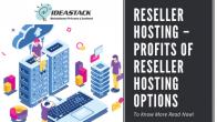 Reseller Hosting - Profits of Reseller Hosting Options