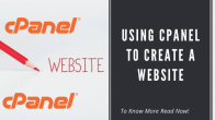 Using Cpanel to create a website