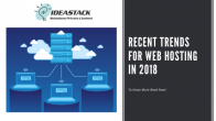 Recent trends for web hosting in 2018