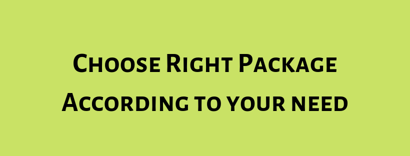 Choose the right package for your website