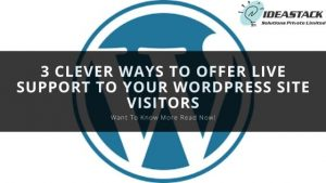 3 CLEVER WAYS TO OFFER LIVE SUPPORT TO YOUR WORDPRESS SITE VISITORS