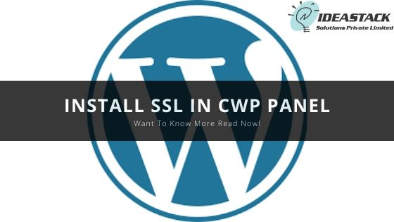 INSTALL SSL IN CWP PANEL