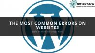 THE MOST COMMON ERRORS ON WEBSITES