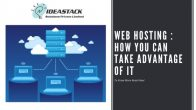 Web Hosting: How You Can Take Advantage of It