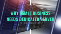 Know Why Small Business Needs A Cheap Dedicated Server Hosting