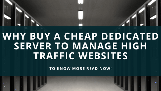 Why Buy A Cheap Dedicated Server To Manage High Traffic Websites