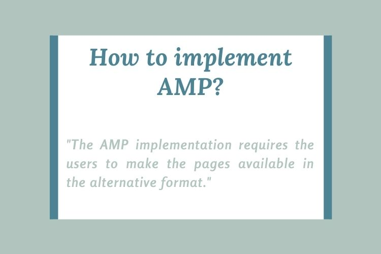How to implement AMP?