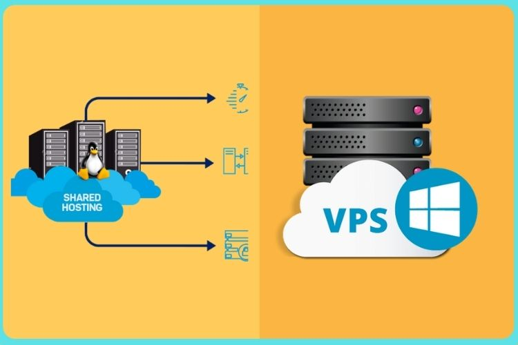 What are the difference between Shared hosting and VPS hosting?