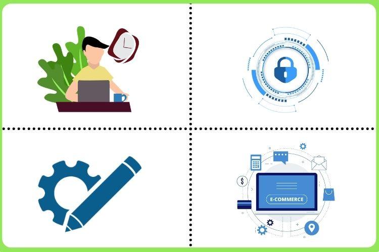 Ease of Use, Security, Customizability. eCommerce